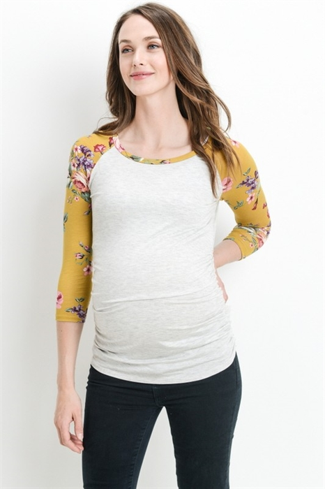 Picture of Floral Raglan Maternity Top