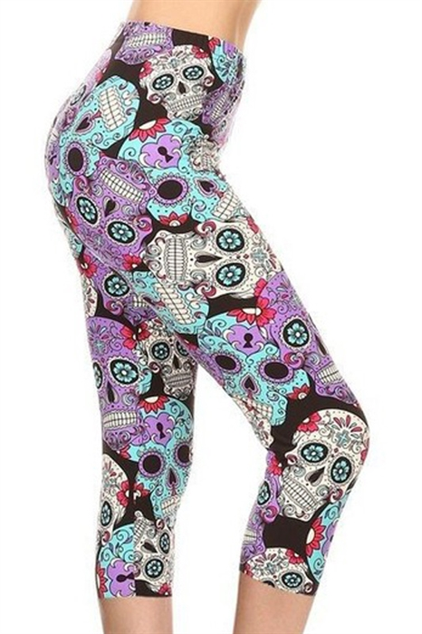 Picture of Purple Skulls Capris