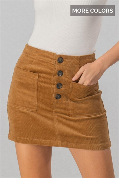 Picture of Button Up Mini Corduroy Skirt